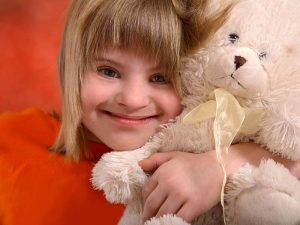Handicapped-Child-w-Teddy-Bear